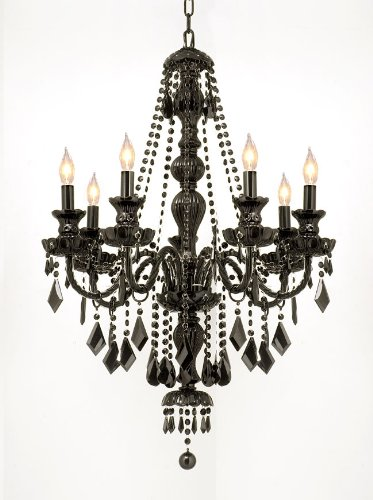 Genuinly spooky jet black crystal chandelier gothicdecor aloadofball Gallery