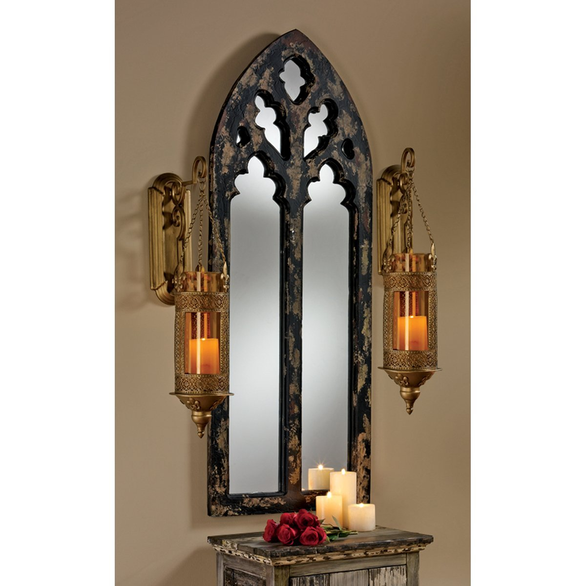 Awesomely weathered cathedral arched gothic mirror gothicdecor net