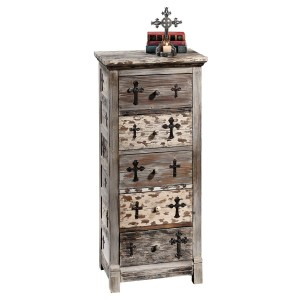 Gothic Sanctuary Five Drawer Chest