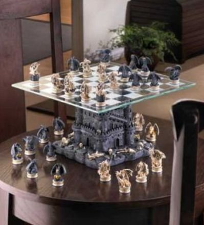 gothic glass chess sets