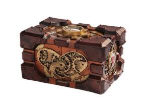 Steampunk Pressure Gauge Box Heart Gearwork
