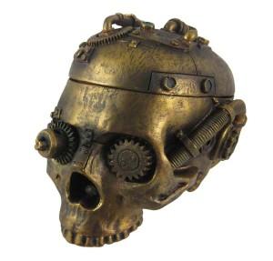 Steampunk Skull Trinket Box Ashtray Ash Tray Stash