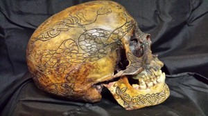 real carved human skull for sale