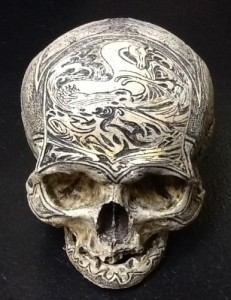 carved human skull russian sea captain