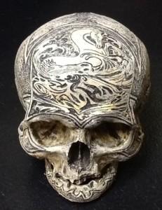 carved human skull russian sea captain