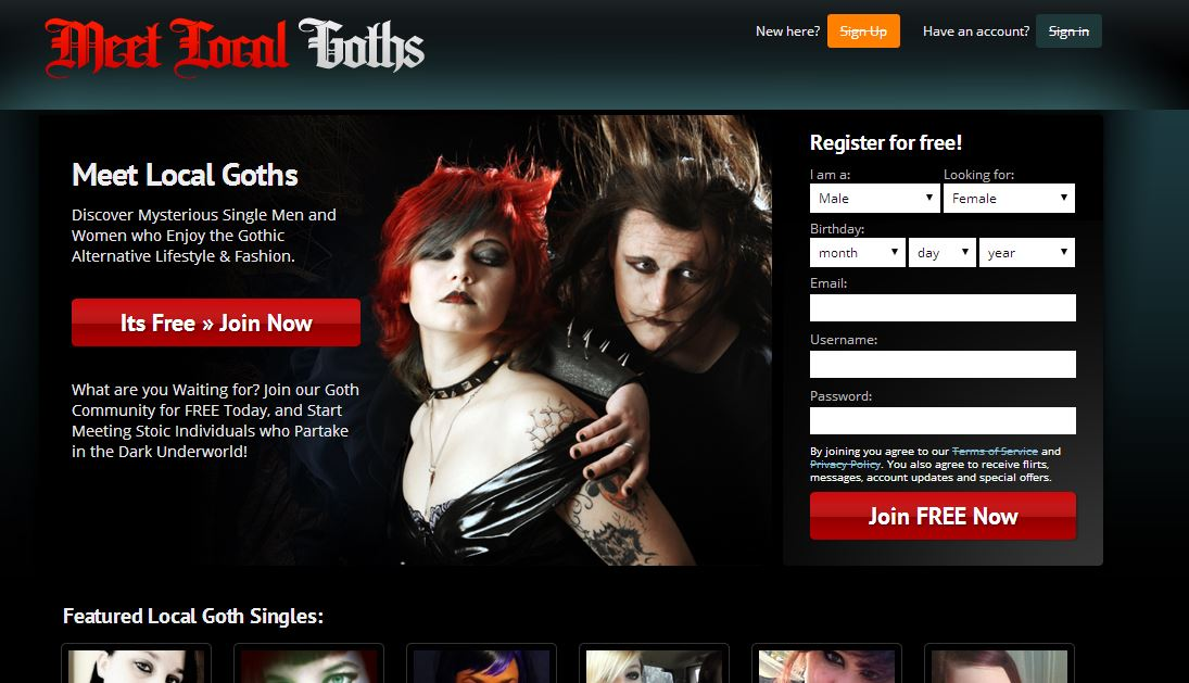 Free online goth dating sites